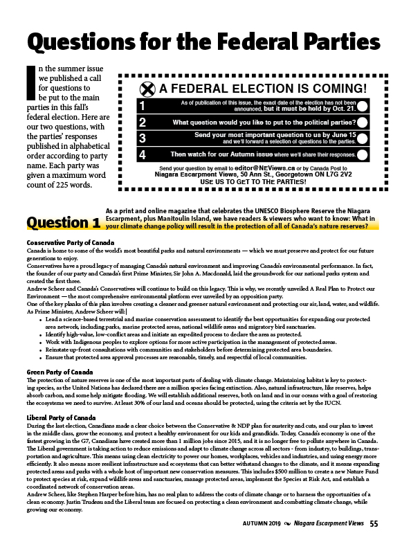 Federal Election 2019 : Vote Oct. 21