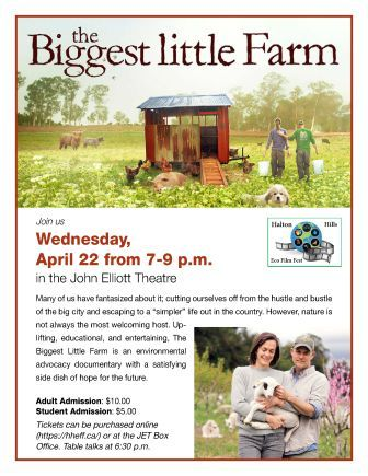 Halton Hills Eco Film Fest Showing of The Biggest Little Farm