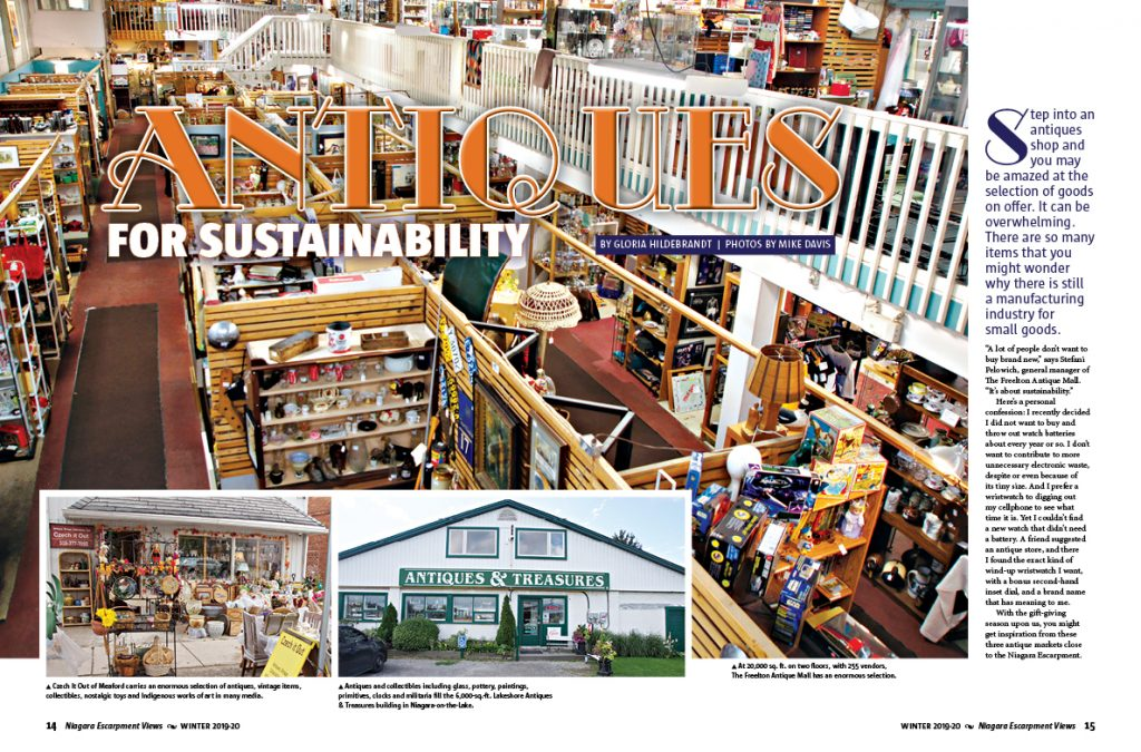 Page 14-15 of Winter 2019-20 issue. Antiques for sustainability